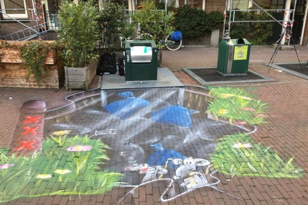 Municipio de pintura callejera Amsterdam