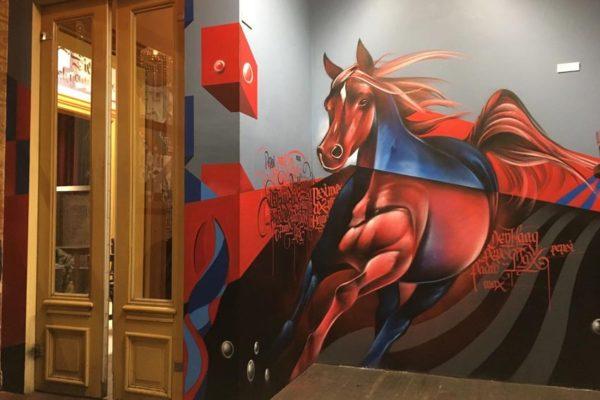 Arte de rua cavalo