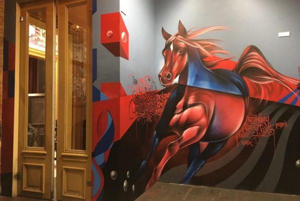 Street-art Paard