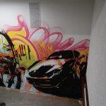 Arte callejero en la escalera de MN