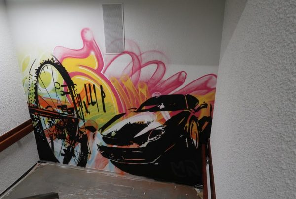 Street Art im MN Treppenhaus
