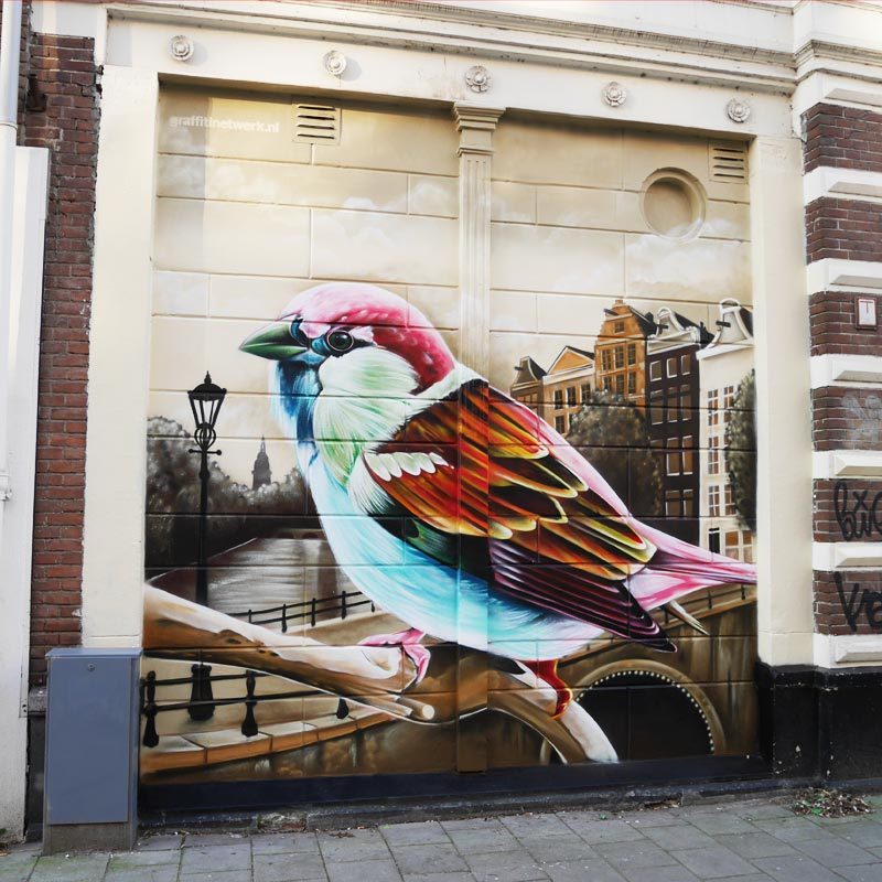 Anti-Graffiti-Malerei Amsterdam