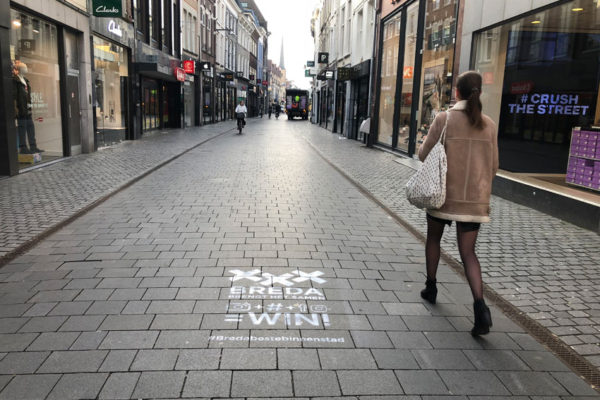 Temporary chalk stamps Breda