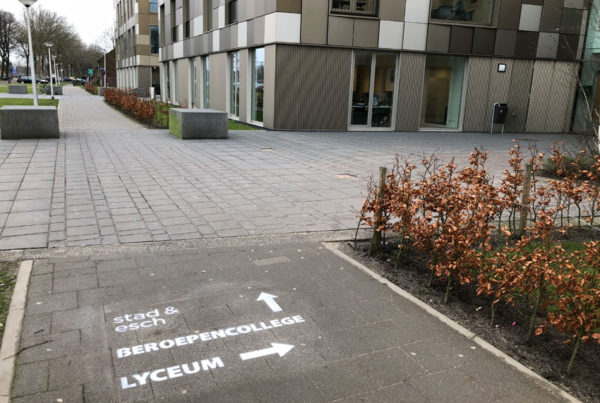 Chalk advertising Stad & Esch