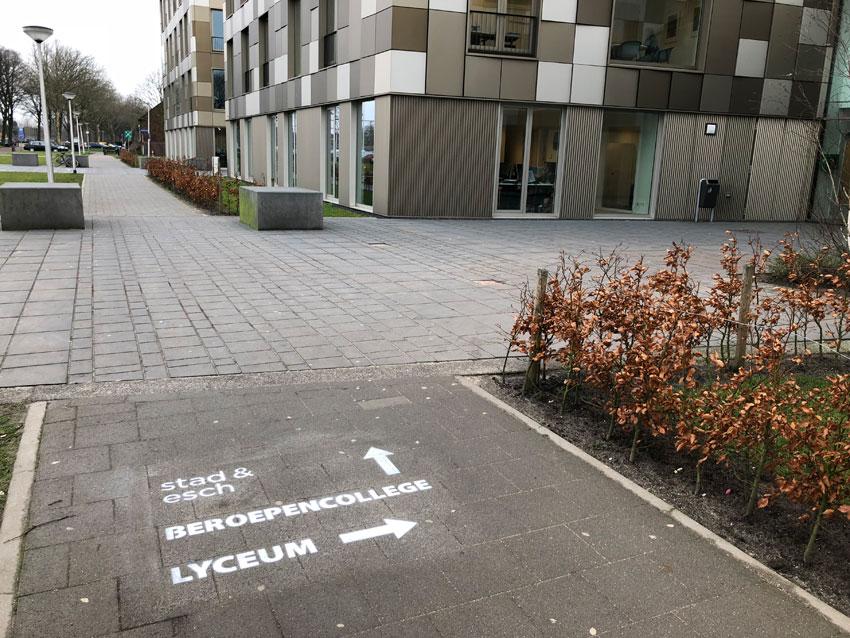 Krijtreclame Stad & Esch