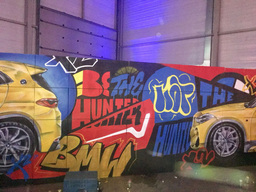 Live-painting BMW