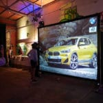 Interactive graffiti wall during BMW event