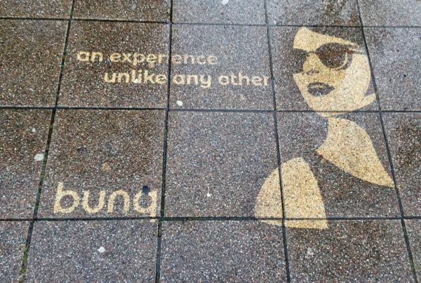 Reverse Graffiti Bunq