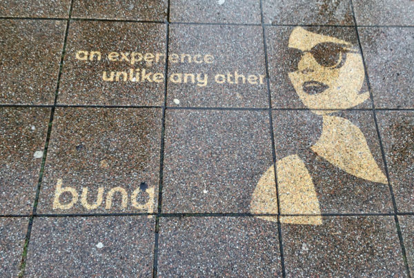 Omvendt graffiti bunq