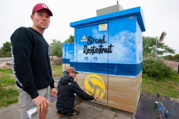 Muurschildering Hoek van Holland