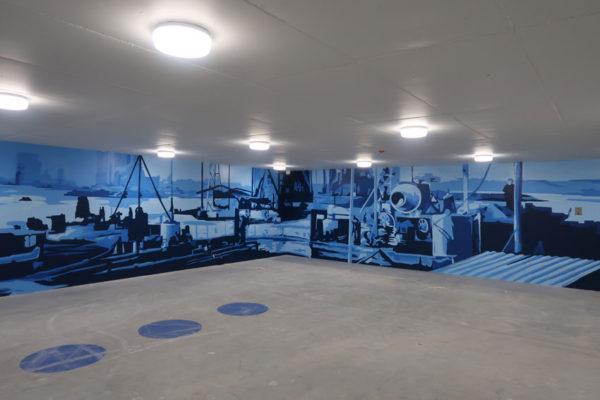 Väggmålning Kistdam garage