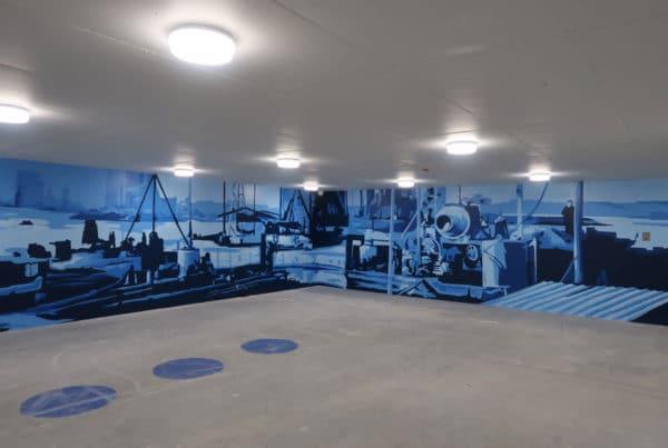 Wandschildering Kistdam garage
