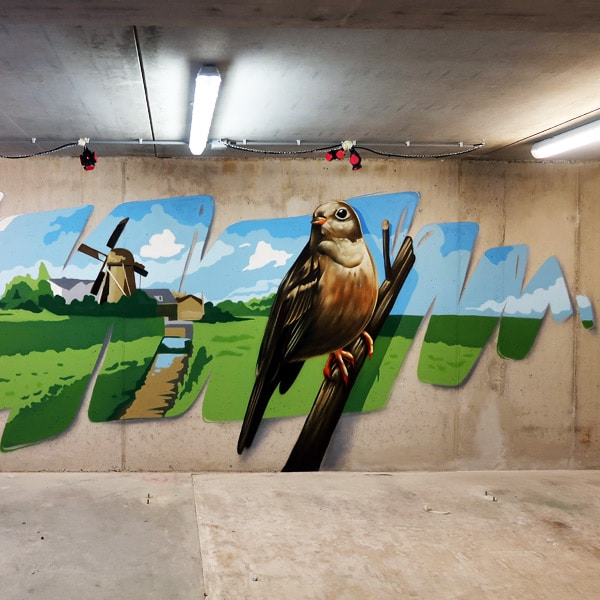 Street-art schildering Rotterdam