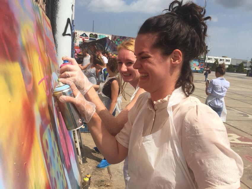 Graffiti-art workshop NDSM