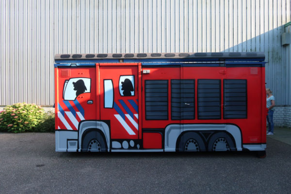 Schildering Brandweer