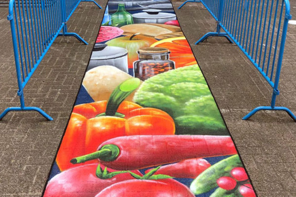 peinture de cour de nourriture