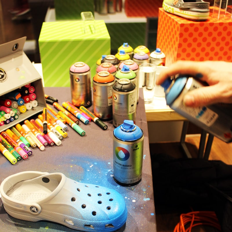 Customizing for Crocs in Neumünster, Germany.