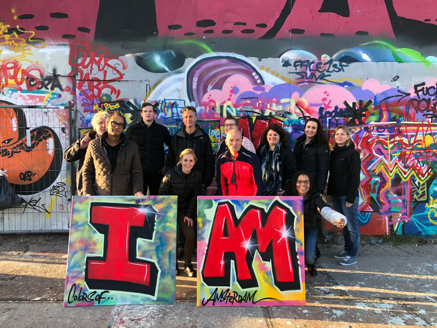 An example of a graffiti workshop in Amsterdam
