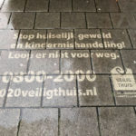 Reverse graffiti uitingen