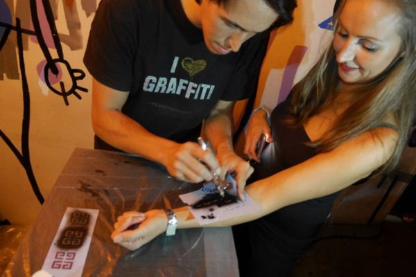 Airbrush-Tattoos Givenchy