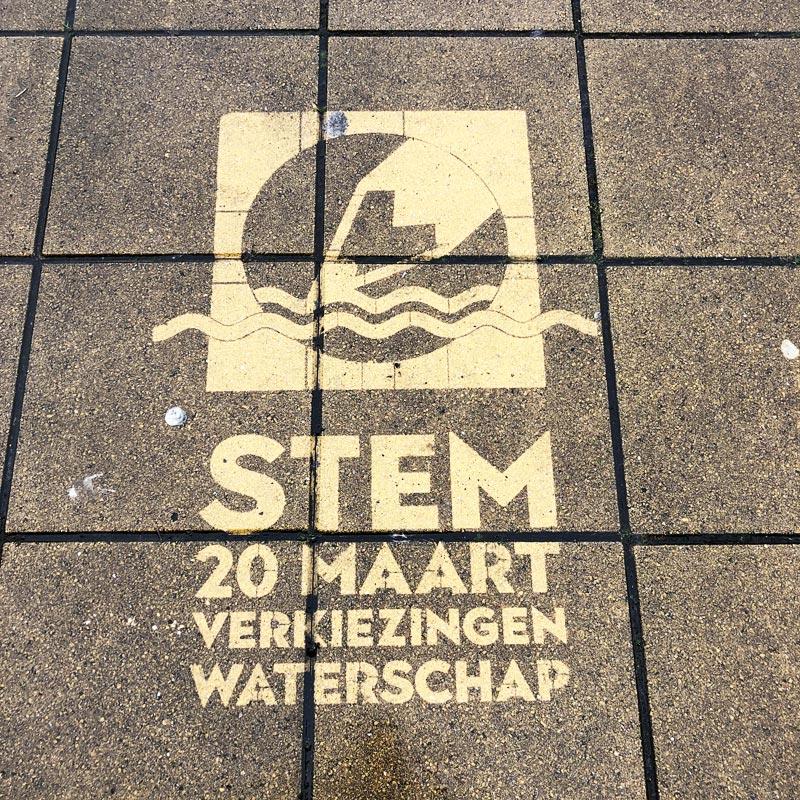 Greengraffiti verkiezingen Waterschap