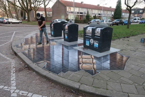 Straßenmalerei Tilburg