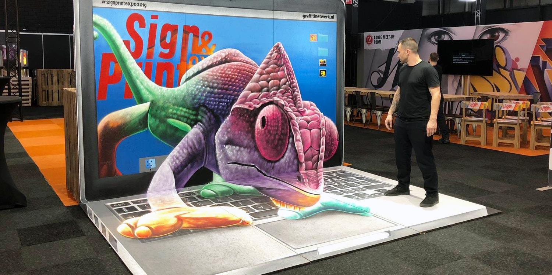 Оптические иллюзии через уличную живопись 3D