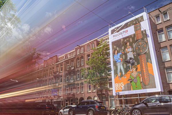 Swatch street art banner