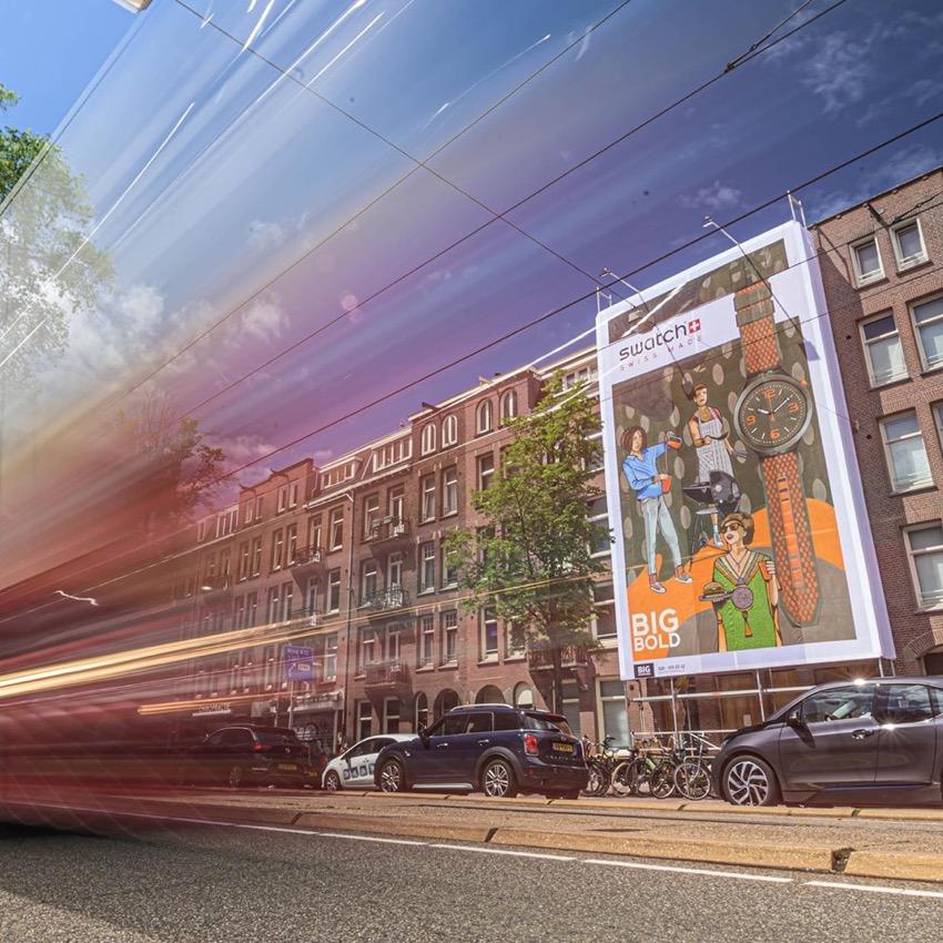 Swatch street-art banner