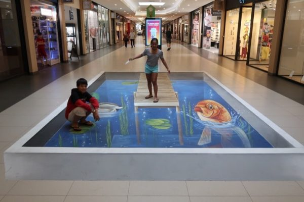 Street art as a mall promotion