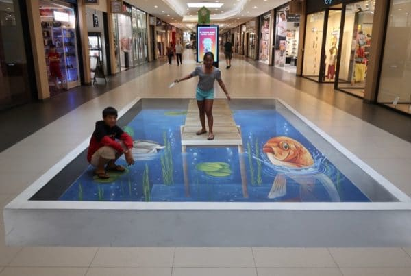 Street Art als Mall-Promotion