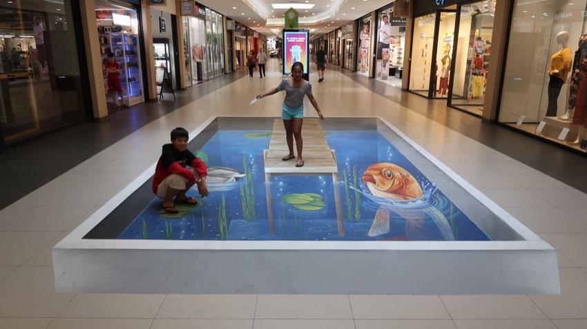 Street-art als winkelcentrum promotie