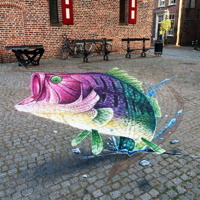 3d ground painting fish passage Doesburg