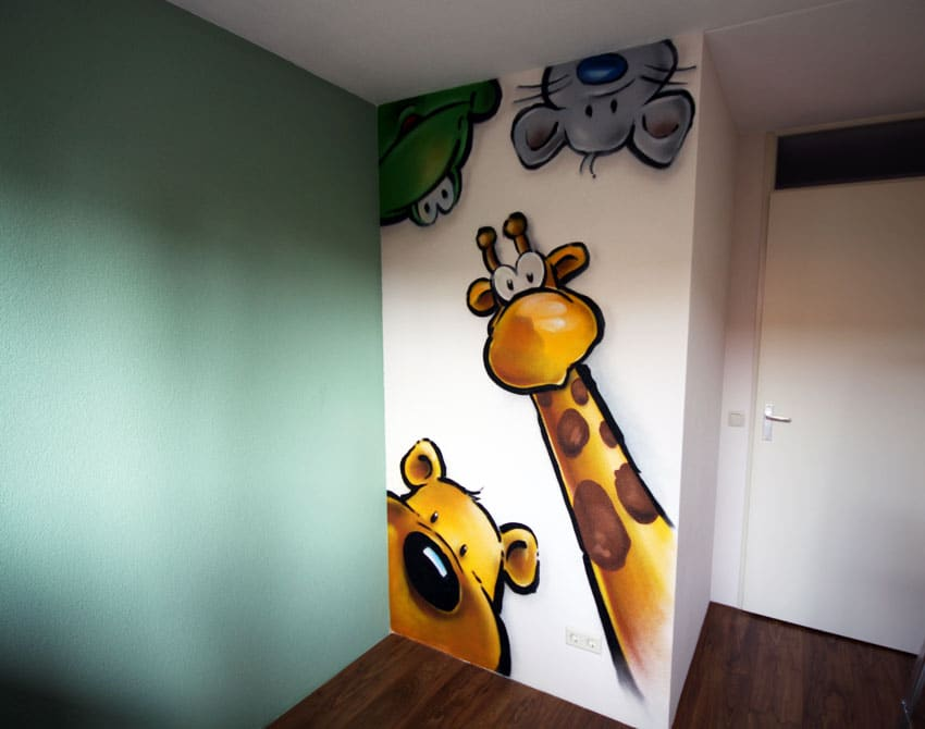 Funny friends wall painting