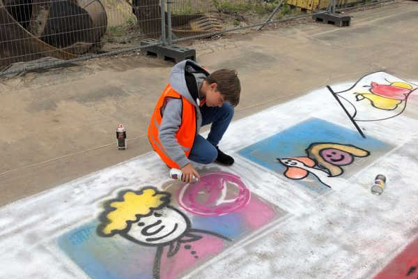 Atelier Streetpainting L'Alliance de Lingen