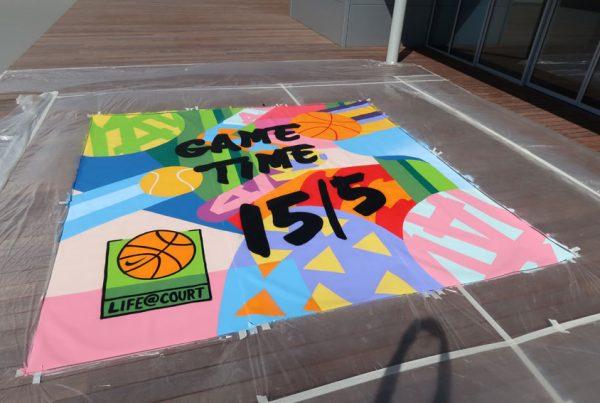 Street art Nike painting