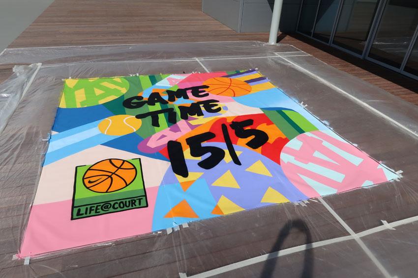 Street-art schildering Nike