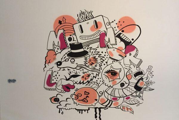 Street art maleri
