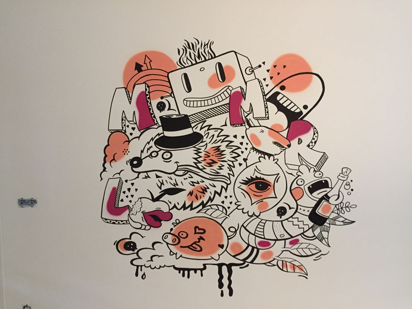 Street-art schildering