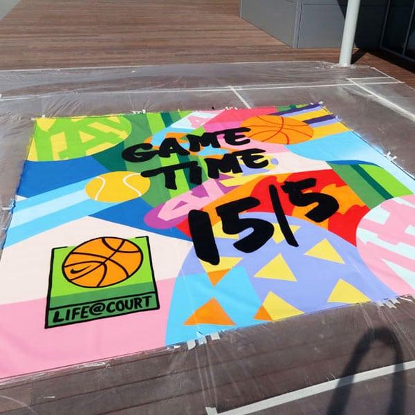 Nike Straßenmalerei Laakdal