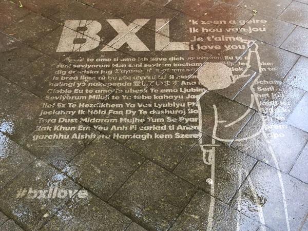 Publicidade de rua #bxllove