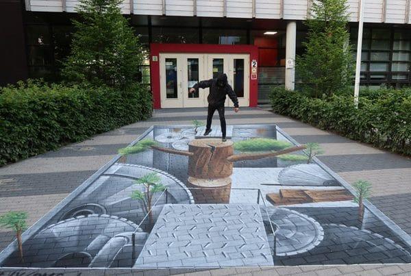 Уличная живопись Альфа-колледжа