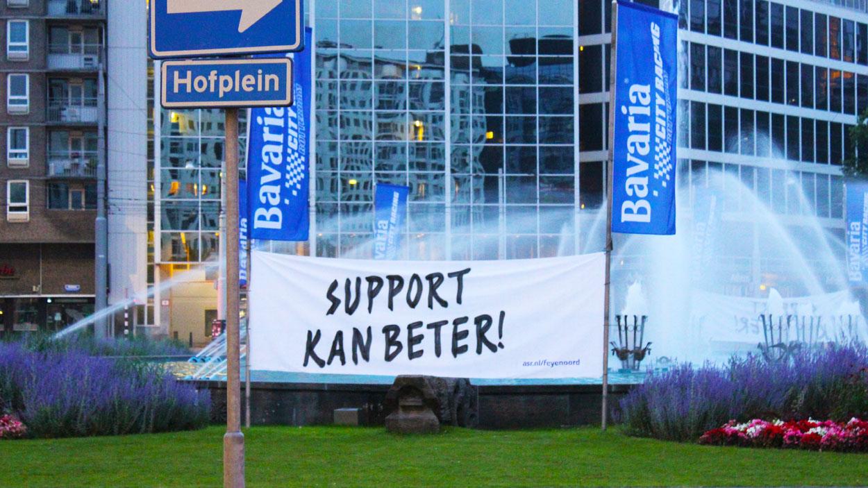 ASR Guerilla-Banner-Kampagne Rotterdam.