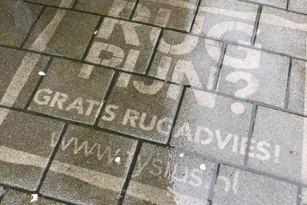 Reverse graffiti reclame