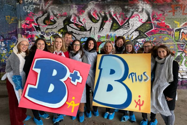 Sprøjtning af graffiti i Antwerpen