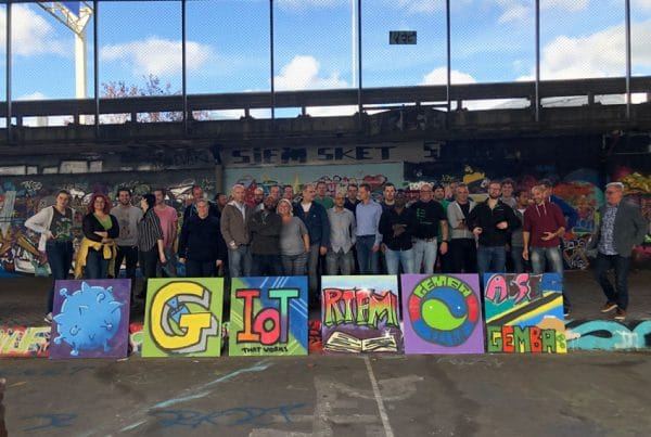 The graffiti workshop as a company outing