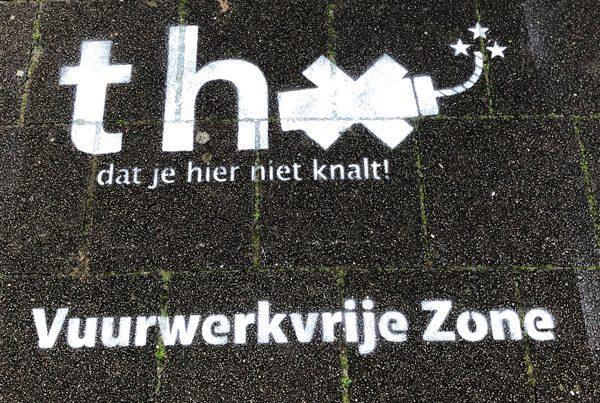 Campagne de feux d'artifice commune d'Utrecht