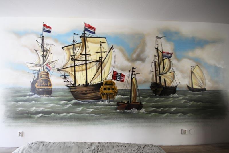 Amsterdamالسفن بحد ذاتها