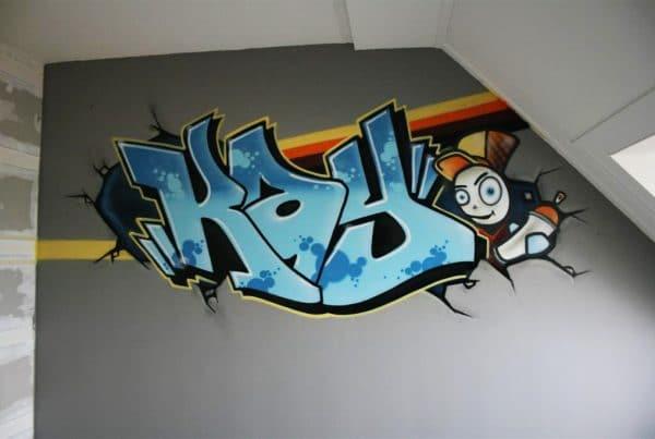 Cool graffiti room Kay