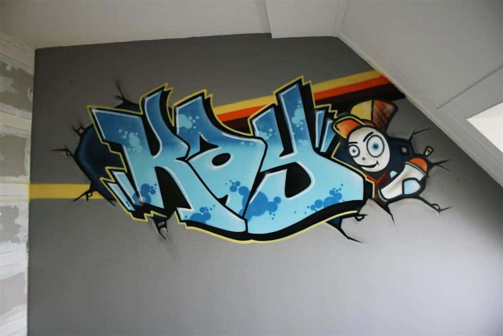 غرفة الكتابة على الجدران باردة كاي